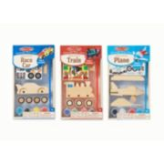 Melissa & Doug Decorate-Your-Own Plane, Train & Race Car Bundle