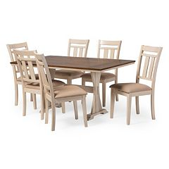 Baxton Studio Roseberry Dining Table & Chair 7-piece Set
