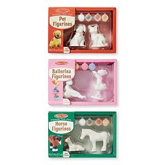 Melissa & Doug Decorate Your Own Ballerinas, Horses & Pet Figurine Set