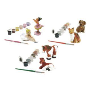 Melissa & Doug Decorate Your Own Ballerinas, Horses & Pet Figurine Set