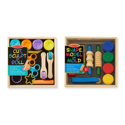 Melissa & Doug Shape, Model, Mold, Cut, Sculpt & Stamp Clay Activity Set