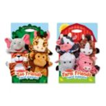 Melissa & Doug Farm & Zoo Friends Hand Puppets Set