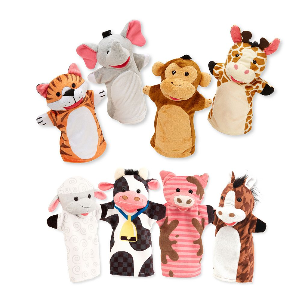 Melissa & Doug Farm & Zoo Friends Hand Puppets Set