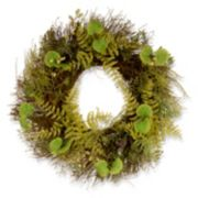 """National Tree Company 24"""" Garden Accents Artificial Fern and Lavender Wreath"""