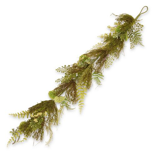 "National Tree Company 45"" Garden Accents Fern and Lavender Garland"