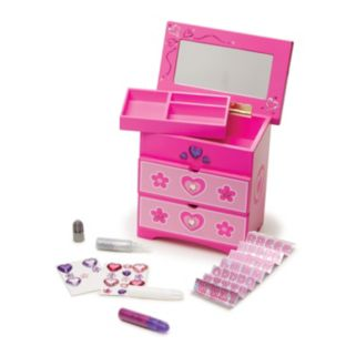 Melissa & Doug Decorate Your Own Wooden Double-Drawer Chest