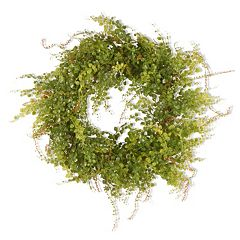 National Tree Company 22' Garden Accents Artificial Boxwood Berry Wreath