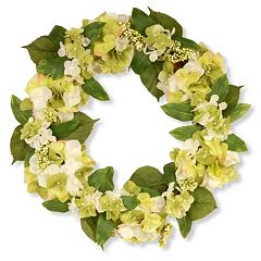 National Tree Company 24' Garden Accents Artificial Hydrangea Wreath