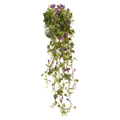 """National Tree Company 25"""" Garden Accents Artificial Hanging Petunia Plant"""