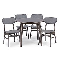 Baxton Studio Debbie Mid-Century Dining 5 pc Set