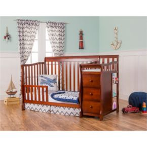 Dream On Me Brody 5-in-1 Convertible Crib with Changer
