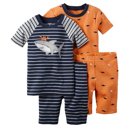 Toddler Boy Carter's 4-pc. Animal Pajama Set