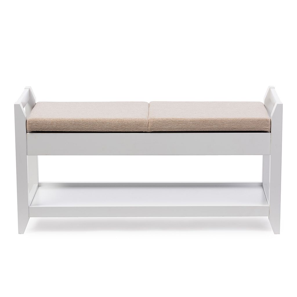 Baxton Studio Maudie Wood Shoe Storage Bench