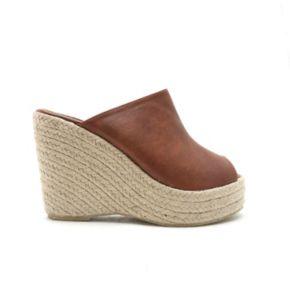 Qupid Deb Women's Slip-On Wedge Sandals