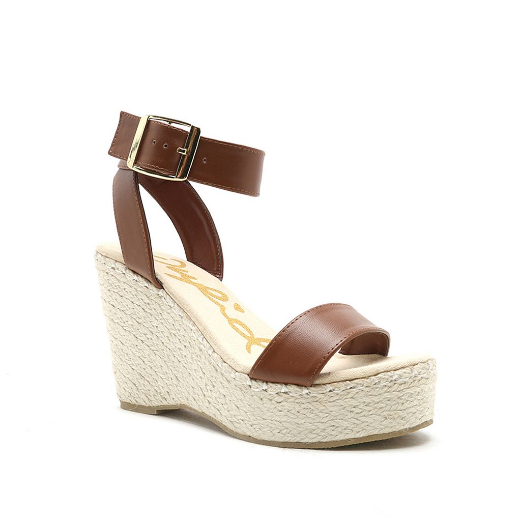 Qupid Deb Women's Espadrille Wedge Sandals