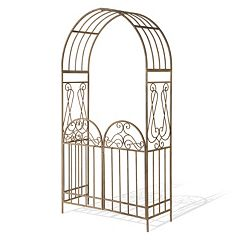 National Tree Company 93' Garden Accents Gated Archway