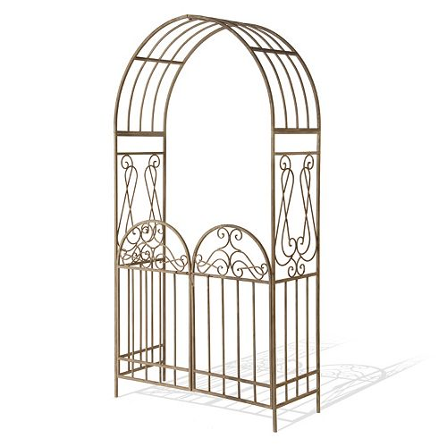 """National Tree Company 93"""" Garden Accents Gated Archway"""