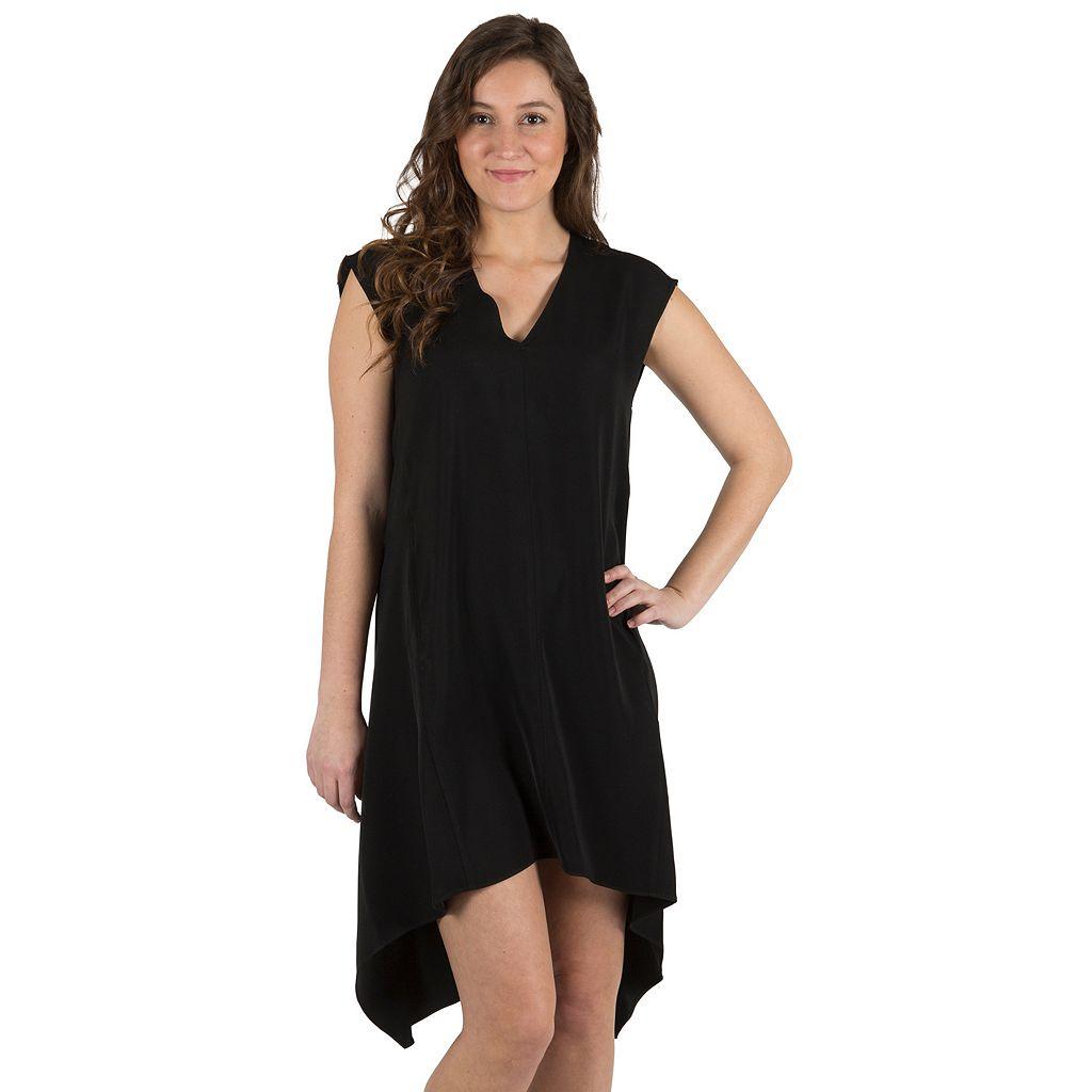 Women's Larry Levine Solid High-Low Dress
