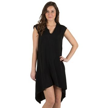 Women's Larry Levine Solid High-Low Dress