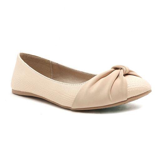 Qupid Swift Women's Bow Ballet Flats