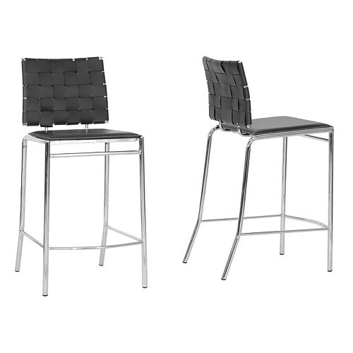 Baxton Studio Vittoria Modern Counter Stool 2-piece Set