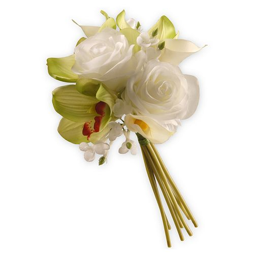 """National Tree Company 10"""" Garden Accents Artificial Rose & Calla Lily Arrangement"""