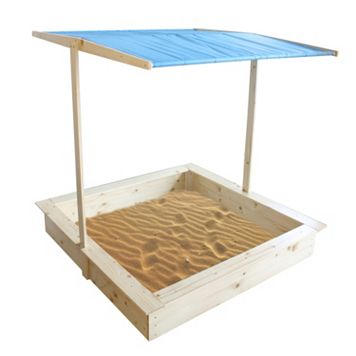 Homewear Wood Sand Box & Canopy