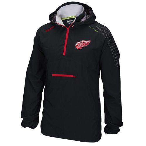 0bc27ebbf0be7 Men's Reebok Detroit Red Wings Center Ice Anorak Pullover Jacket