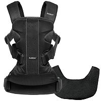 BabyBjorn Black Mesh Baby Carrier One with Bib