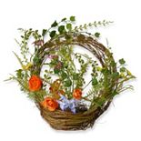 """National Tree Company 16"""" Artificial Floral Spring Ring Basket"""