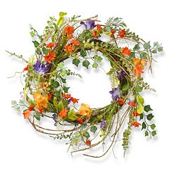 National Tree Company 22' Artificial Morning Glory Wreath