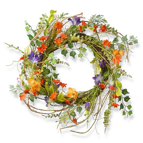 "National Tree Company 22"" Artificial Morning Glory Wreath"