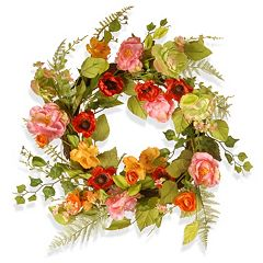 National Tree Company 22' Artificial Spring Floral Wreath