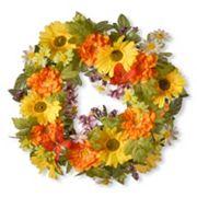 National Tree Company 18' Artificial Daisy Decorative Wreath