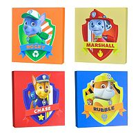 Paw Patrol 4 pc Canvas Wall Art Set