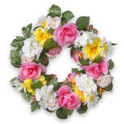 National Tree Company 18' Artificial Daisy & Rose Wreath