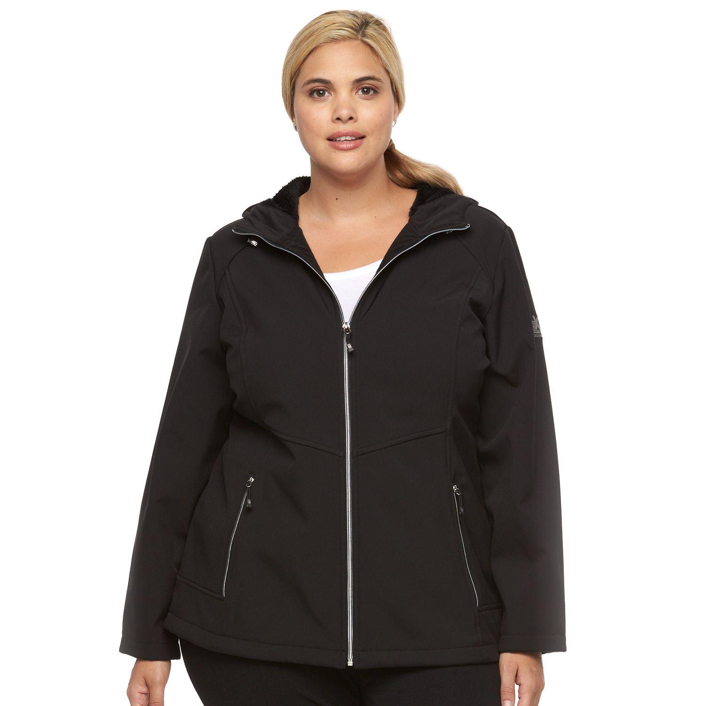 Plus Size ZeroXposur Lillian Hooded Soft Shell Jacket