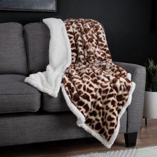 Fleece Sherpa Blanket Throw