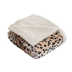 Fleece Sherpa Blanket Throw