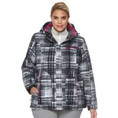 Plus Size ZeroXposur Beverly Hooded Snowboard Jacket & Fleece Headband