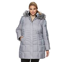 Plus Size ZeroXposur Angelica Hooded Shimmer Quilted Jacket