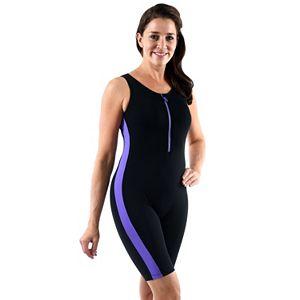 Plus Size Dolfin Colorblock Aquatard One-Piece Swimsuit