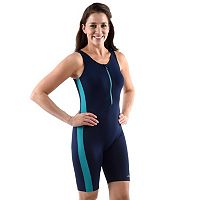 Women's Dolfin Colorblock Aquatard One-Piece Swimsuit