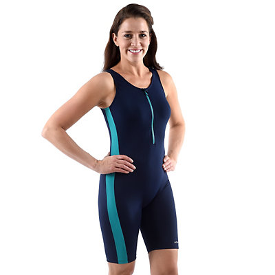Women's Dolfin Colorblock Aquatard One-Piece Swimsuit