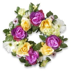 """National Tree Company 18"""" Artificial Floral Wreath"""