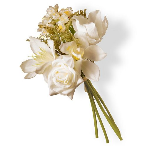 National Tree Company 13 Artificial Cream Magnolia Bouquet