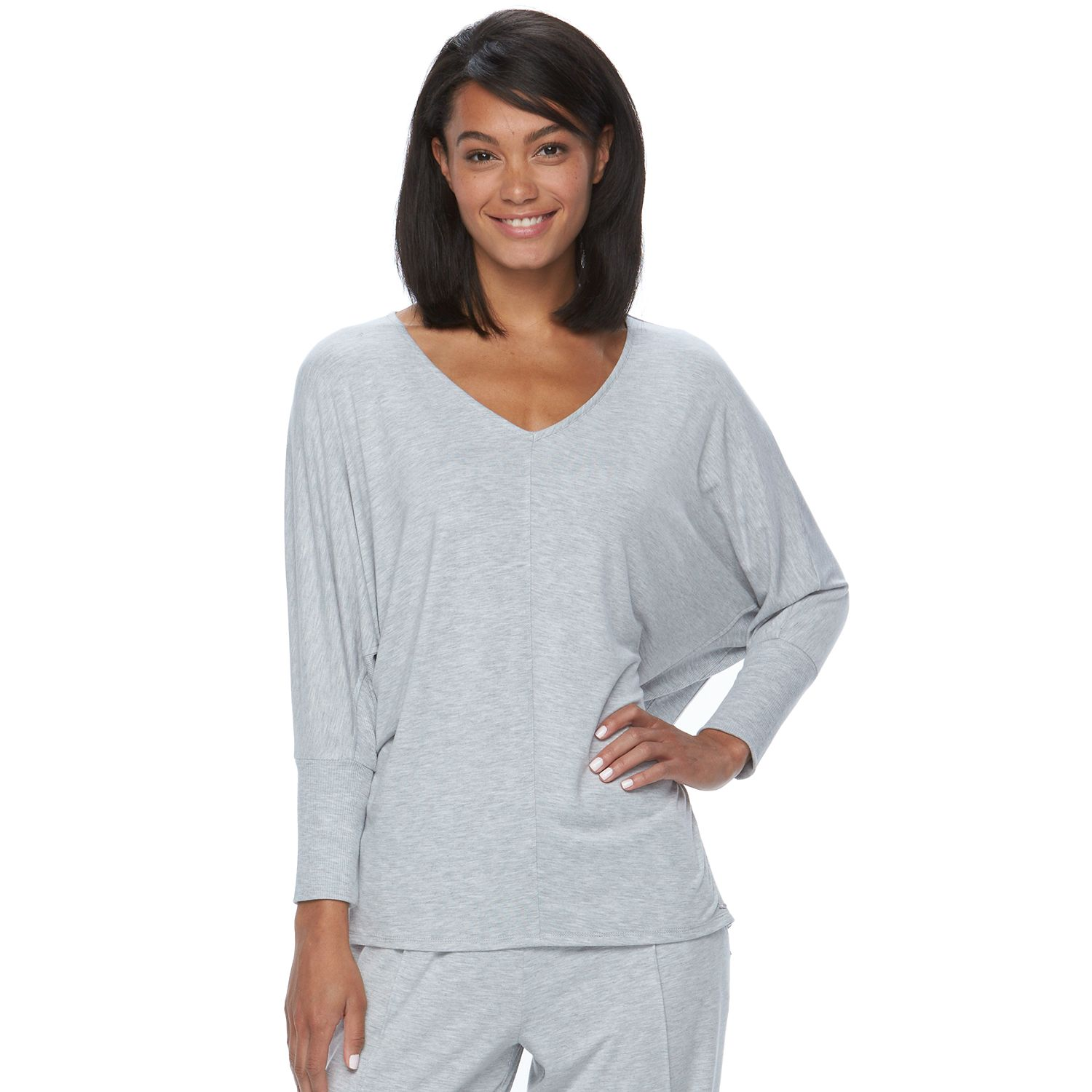 Womens bliss Peaceful Lounge V-Neck Dolman Top