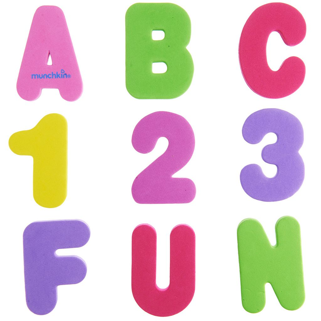 Munchkins Bath Letters & Numbers Set