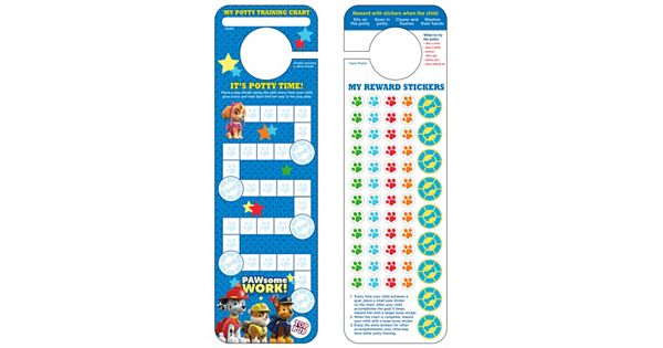 Paw Patrol Potty Training Chart Amp Stickers