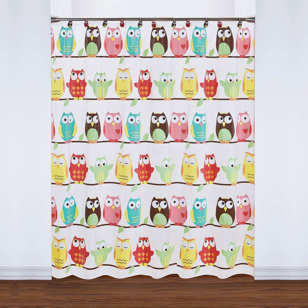 Saturday Knight, Ltd. Owl PEVA Shower Curtain